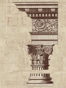 Architectural Rendering I Burlap Sepia Crop by Hugo Wild