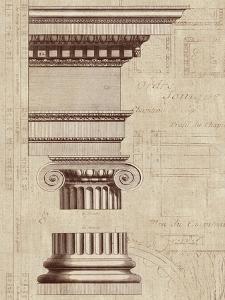 Architectural Rendering II Burlap Sepia Crop by Hugo Wild