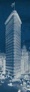 Flat Iron 1909 Blueprint Panel by Hugo Wild