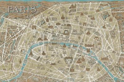 Monuments of Paris Map