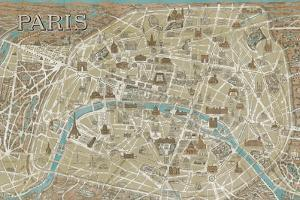 Monuments of Paris Map by Hugo Wild