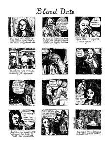 Blind Date - New Yorker Cartoon by Huguette Martel