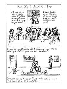 My Best Students Ever - New Yorker Cartoon by Huguette Martel
