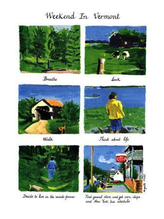 Weekend In Vermont - New Yorker Cartoon by Huguette Martel