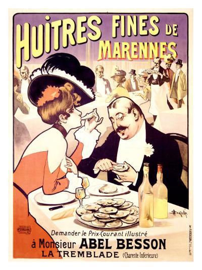 Huitres Fines de Marennes--Giclee Print