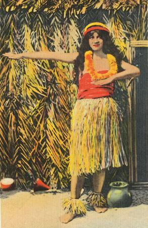 Hula Girl, Honolulu, Hawaii, c.1930s