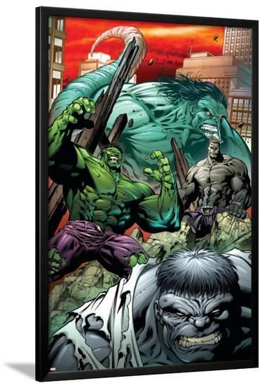 Hulk: Broken Worlds No.2 Cover: Hulk-Paul Pelletier-Lamina Framed Poster