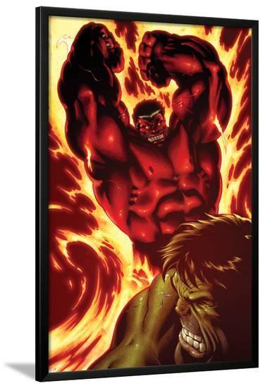 Hulk No.24: Rulk Fighting-Ed McGuinness-Lamina Framed Poster