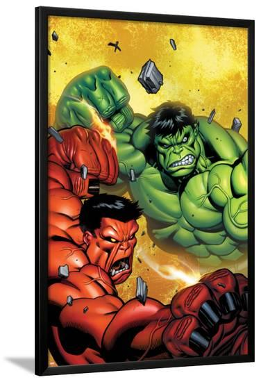 Hulk No.29 Cover: Hulk and Rulk Fighting-Ed McGuinness-Lamina Framed Poster