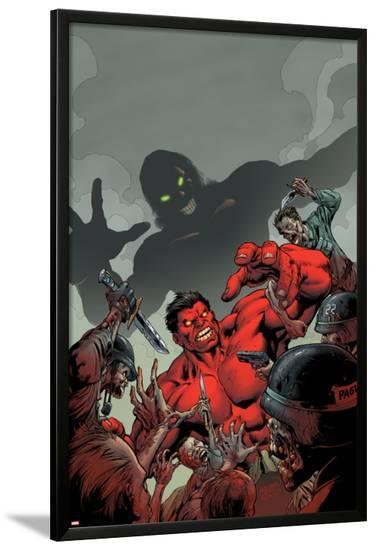 Hulk No.50 Cover: Red Hulk Fighting-Carlo Pagulayan-Lamina Framed Poster