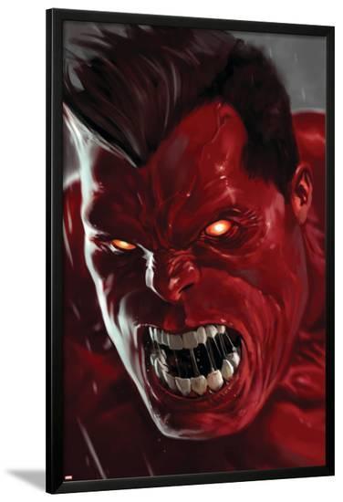 Hulk: Red Hulk Must Have Hulk No.2 Cover: Hulk--Lamina Framed Poster