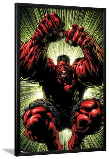 Hulk: Red Hulk Must Have Hulk No.3 Cover: Hulk-David Finch-Lamina Framed Poster