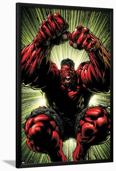 Hulk: Red Hulk Must Have Hulk No.3 Cover: Hulk-David Finch-Lamina Framed Poster