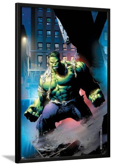 Hulk: Unchained No.1 Cover: Hulk-Jim Cheung-Lamina Framed Poster
