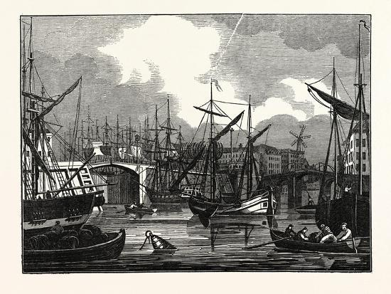 Hull, in Yorkshire. View of the North Bridge. Uk--Giclee Print