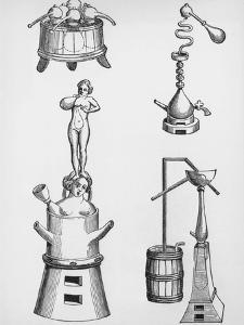 Alchemy Apparatus by Hulton Archive