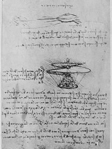 Da Vinci Notebook by Hulton Archive