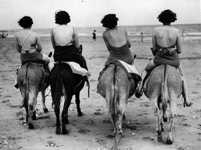 Donkey Back Rides by Hulton Archive
