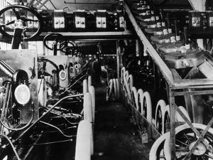 Moving Assembly Line by Hulton Archive