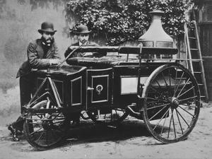 Steam Wagon by Hulton Archive