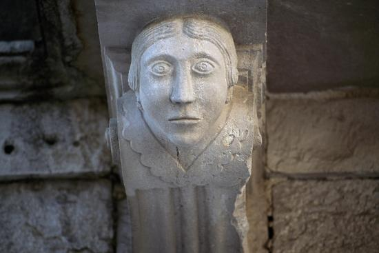 Human Face, Detail of Balcony Depicting Human Face, Historical Centre, Barletta, Apulia, Italy--Giclee Print
