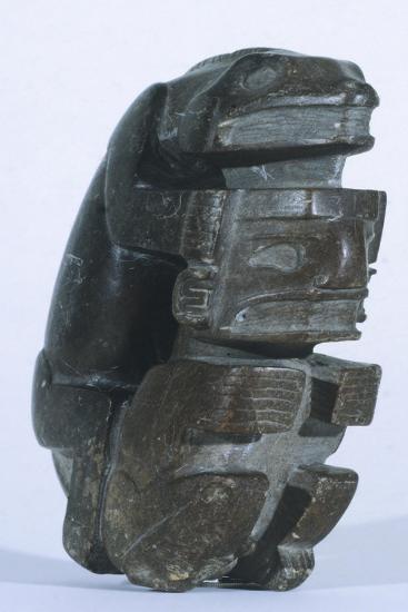Human Figure in Slate, Artifact Originating from Sucuruju--Giclee Print