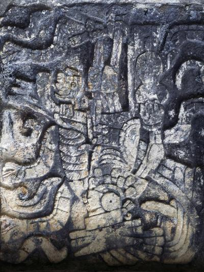 Human Figure, Relief of the Temple of the Jaguars, Chichen Itza--Photographic Print