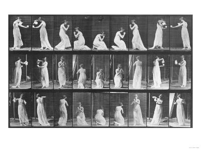 Human Locomotion: Females, 1887-Edward S^ Curtis-Giclee Print