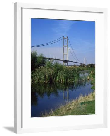 Humber Bridge from the South Bank, Yorkshire, England, United Kingdom-R Mcleod-Framed Photographic Print