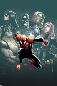 Superior Spider-Man #7 Cover: Spider-Man, Spider Woman, Wolverine, Captain America, Black Widow by Humberto Ramos