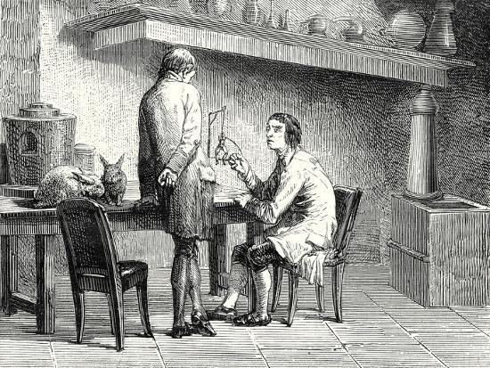 Humboldt and Hallé Repeating the Experiments of Galvani and Volta--Giclee Print