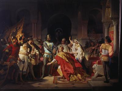 Humiliation of Emperor Frederick Barbarossa by Henry the Lion 1176-Philipp Foltz-Giclee Print