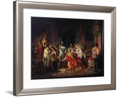 Humiliation of Emperor Frederick Barbarossa by Henry the Lion 1176-Philipp Foltz-Framed Giclee Print
