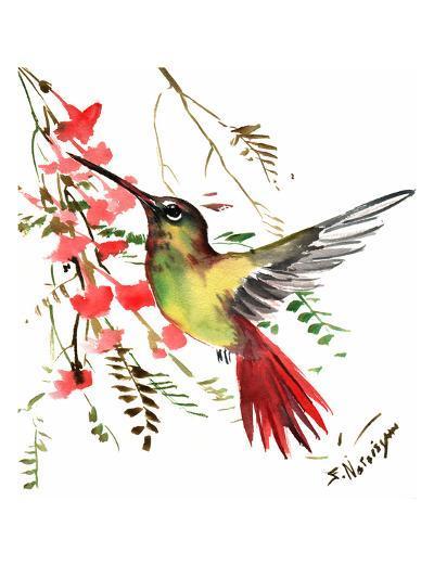 Hummingbird 17-Suren Nersisyan-Art Print