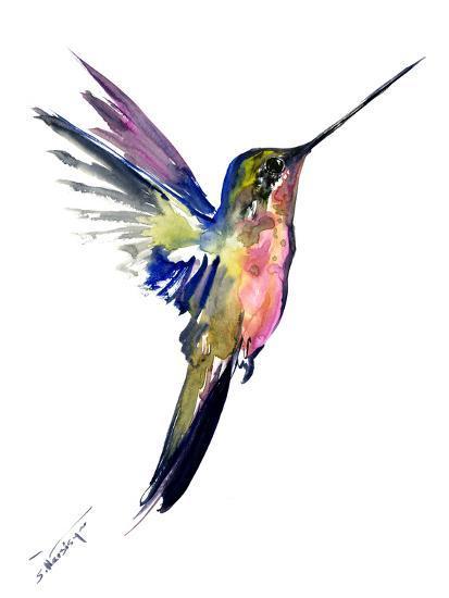 Hummingbird 4-Suren Nersisyan-Art Print