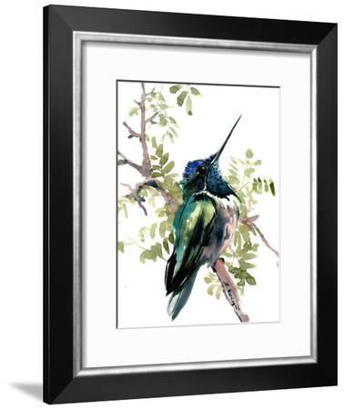Hummingbird Green-Suren Nersisyan-Framed Art Print