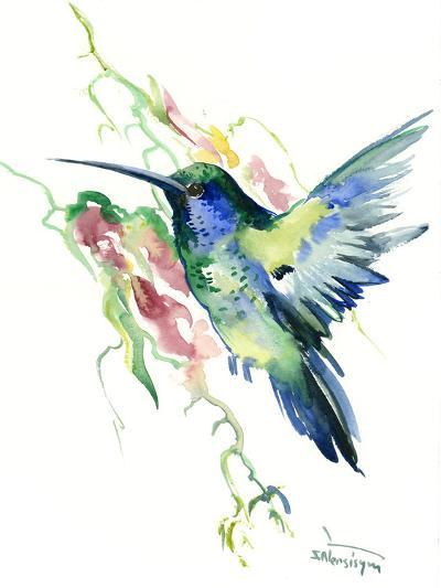 Hummingbird Indigo-Suren Nersisyan-Art Print