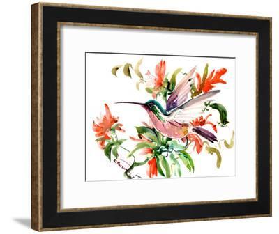 Hummingbird-Suren Nersisyan-Framed Art Print