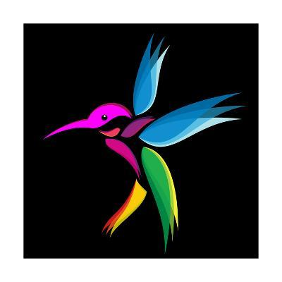 Hummingbird-yod67-Art Print