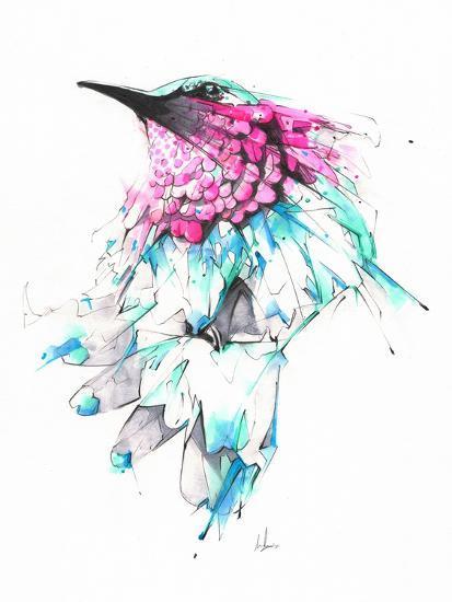 Hummingbird-Alexis Marcou-Art Print