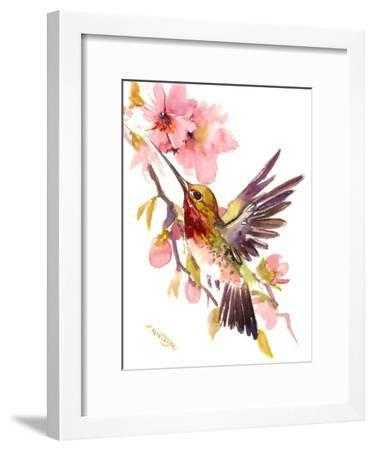 Hummingbirds 5-Suren Nersisyan-Framed Art Print