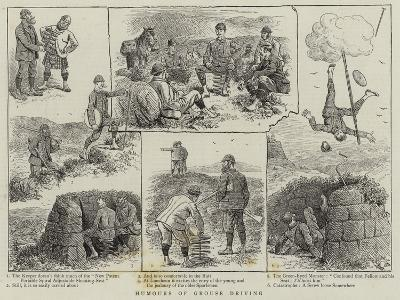 Humours of Grouse Driving--Giclee Print