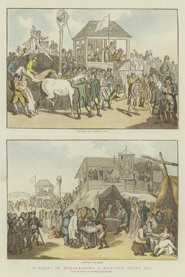 Humours of Horse-Racing a Hundred Years Ago-Thomas Rowlandson-Giclee Print