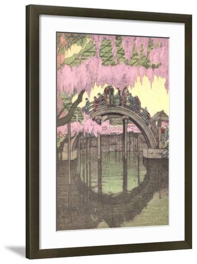 Hump-Backed Bridge, Kameido Tenjin--Framed Art Print
