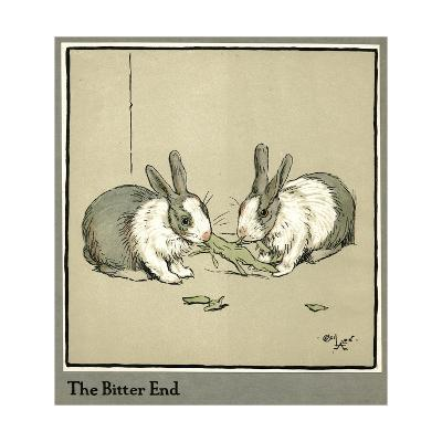 Humpty and Dumpty the Rabbits Eating a Cabbage-Cecil Aldin-Giclee Print