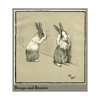 Humpty and Dumpty the Rabbits Lose their Way-Cecil Aldin-Giclee Print
