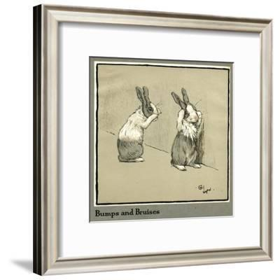 Humpty and Dumpty the Rabbits Lose their Way-Cecil Aldin-Framed Giclee Print