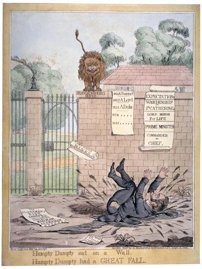 Humpty Dumpty Sat on a Wall..., 1821-Richard Dighton-Giclee Print