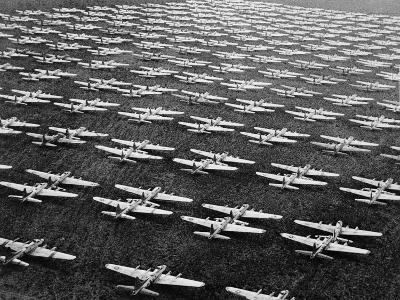 Hundreds of B-29 Flying Fortresses Await Scrap Heap-Bettmann-Photographic Print