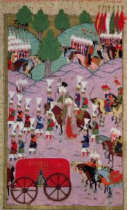 """""""Hunername"""" the Army of Suleyman the Magnificent (1494-1566) Leave for Europe"""